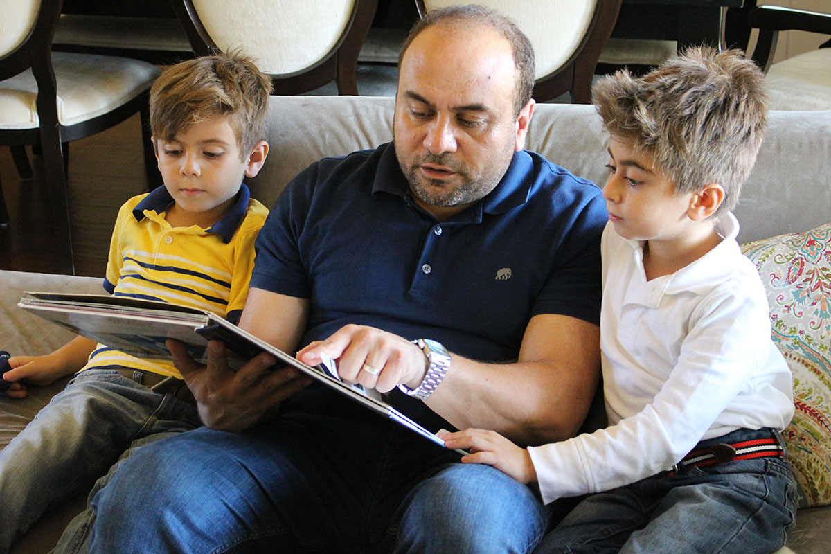 Adrin Nazarian with family