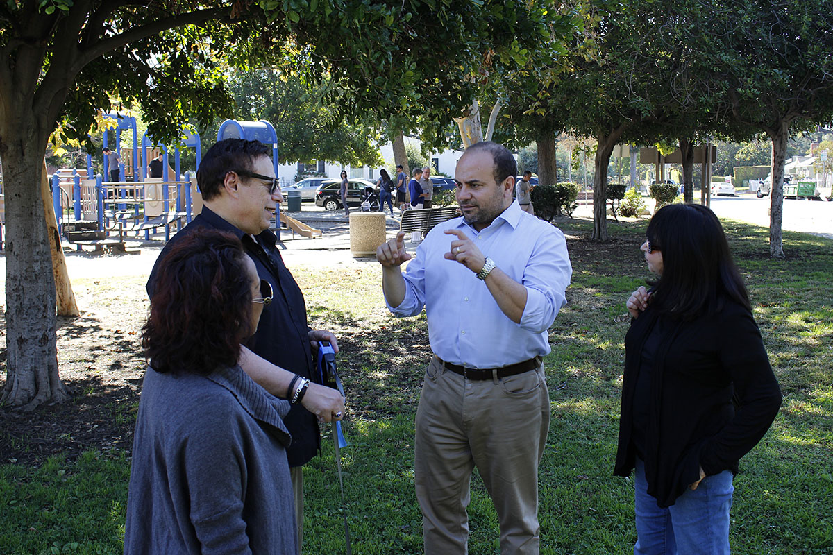 Adrin Nazarian with constituents